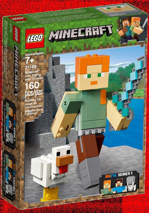 LEGO Minecraft BigFig Alex z kurczakiem 21149