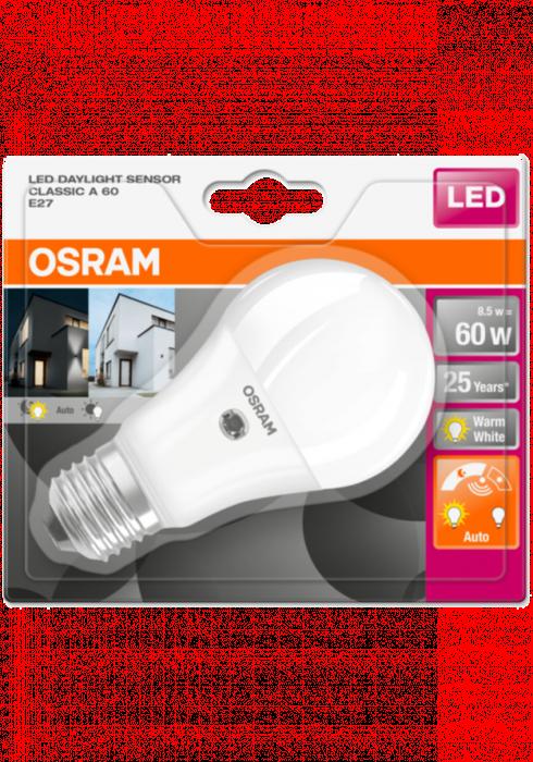 OSRAM LED STAR+ CL A Czujnik zmierzchu 9W 827 E27 806lm 2700K