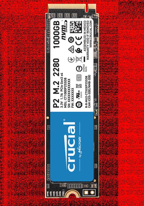 Dysk SSD Crucial 1TB M.2 PCIe NVMe P2 CT1000P2SSD8
