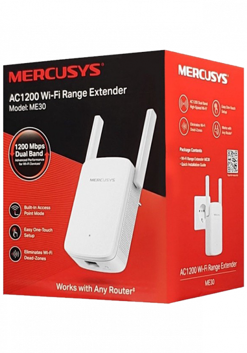 Wzmacniacz sygnału WiFi Mercusys ME30 AC1200