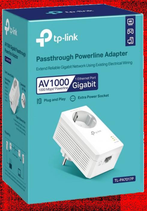 Transmiter sieciowy TP-Link Powerline TL-PA7017P AV1000
